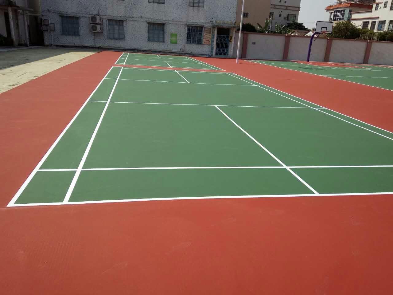 硅pu篮球场施工流程-地坪漆施工步骤-广东环氧地坪漆厂家